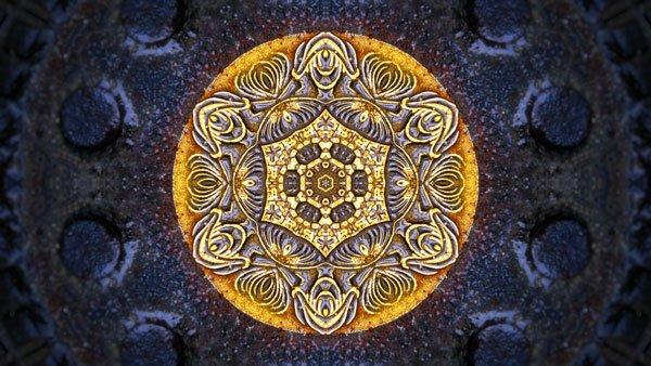 Mandala als Sinnbild für CBD-Vollspektrum-Öl